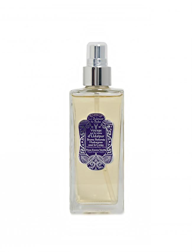 Bruma hidratante de perfume Almizcle, Incienso y Vainilla