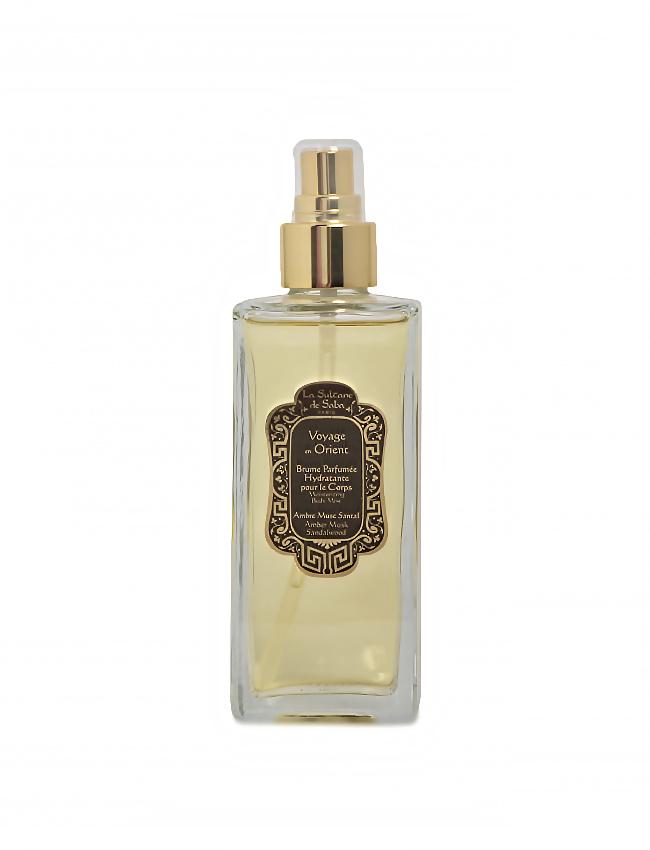 Bruma hidratante de perfume Ámbar, Almizcle y Sándalo