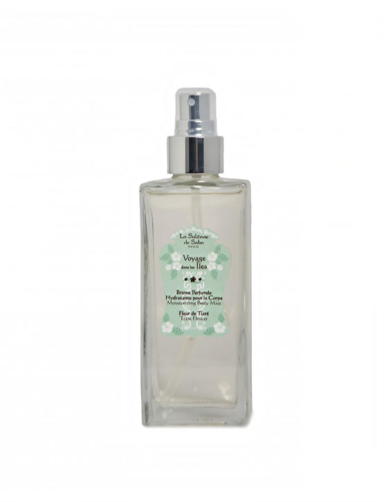 Bruma hidratante de perfume Flor de Tiaré y Aloe Vera